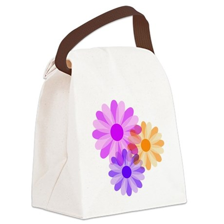 floral.png Canvas Lunch Bag