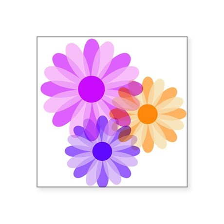 "floral.png Square Sticker 3"" x 3"""