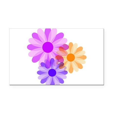floral.png Rectangle Car Magnet