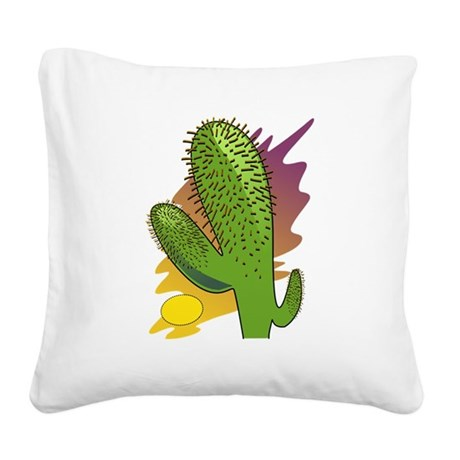 cactus2b.png Square Canvas Pillow