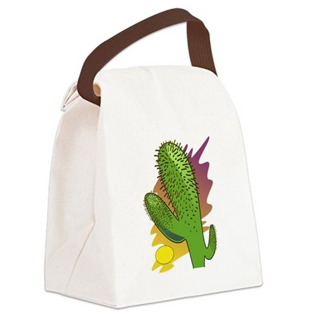 cactus2b.png Canvas Lunch Bag