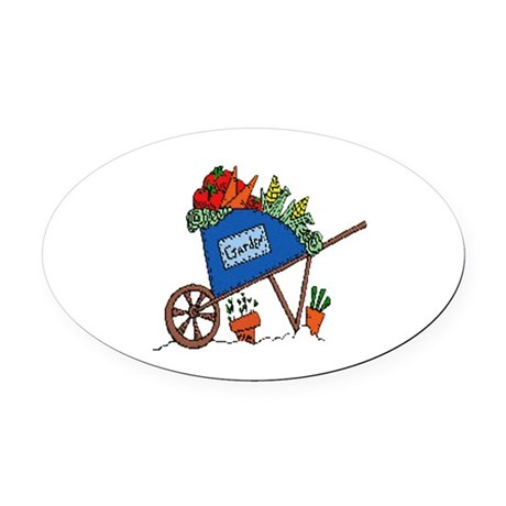garden2.png Oval Car Magnet