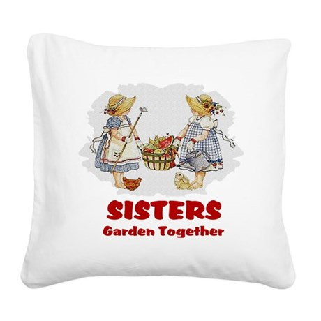 garden1b.png Square Canvas Pillow