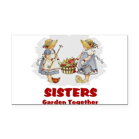 garden1b.png Rectangle Car Magnet