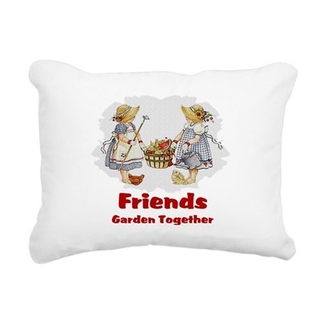 garden1a.png Rectangular Canvas Pillow