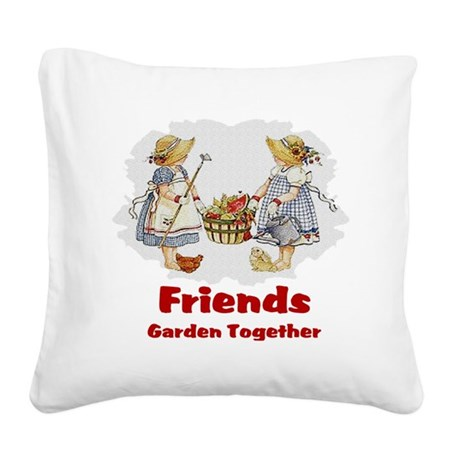 garden1a.png Square Canvas Pillow