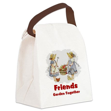 garden1a.png Canvas Lunch Bag