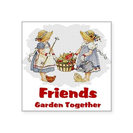 "garden1a.png Square Sticker 3"" x 3"""
