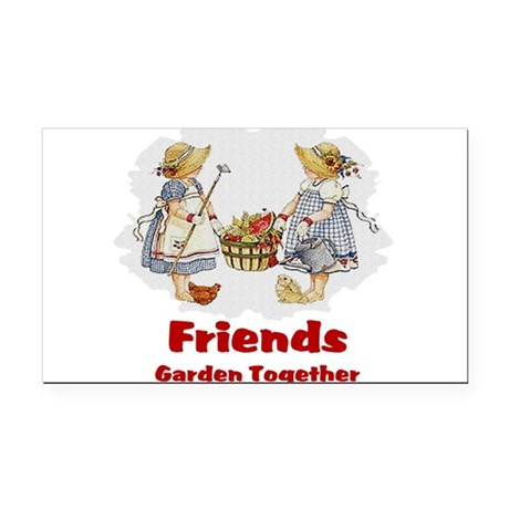 garden1a.png Rectangle Car Magnet