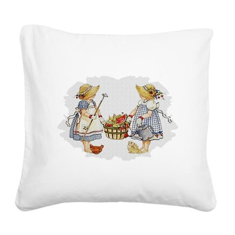 garden1.png Square Canvas Pillow