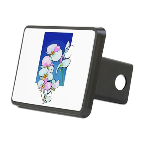 flowers.png Rectangular Hitch Cover