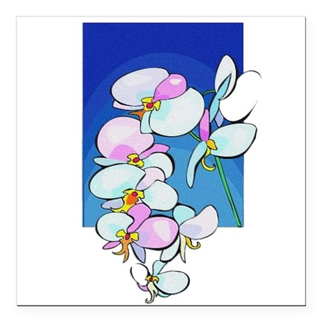 flowers.png Square Car Magnet 3&quot; x 3&quot;