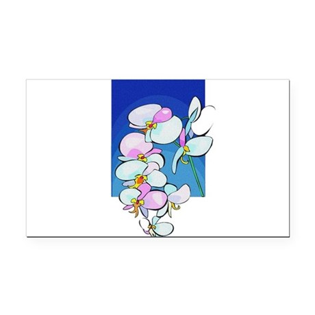 flowers.png Rectangle Car Magnet