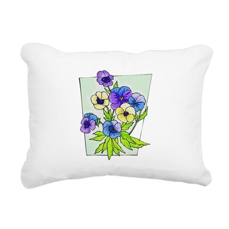 pansies.png Rectangular Canvas Pillow