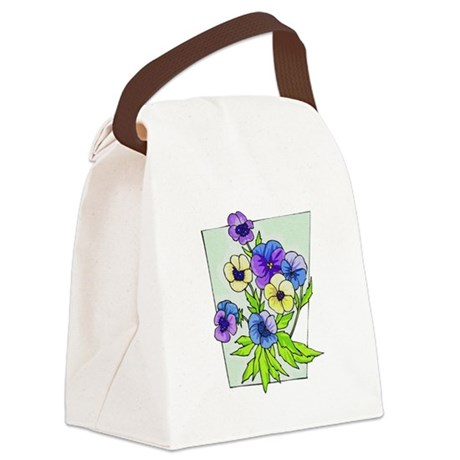 pansies.png Canvas Lunch Bag