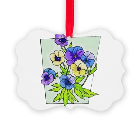 pansies.png Picture Ornament
