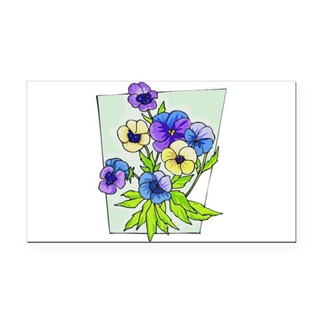 pansies.png Rectangle Car Magnet