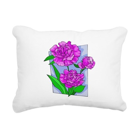 peony2.png Rectangular Canvas Pillow