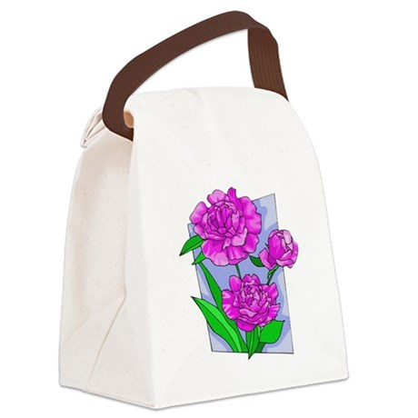 peony2.png Canvas Lunch Bag