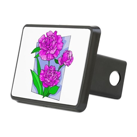 peony2.png Rectangular Hitch Cover