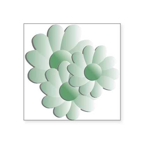 "daisy5b.png Square Sticker 3"" x 3"""