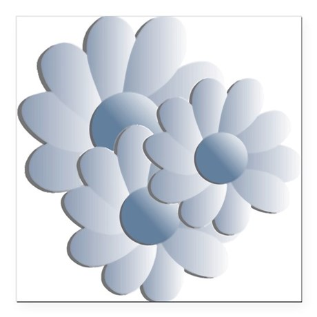 daisy5c2.png Square Car Magnet 3&quot; x 3&quot;