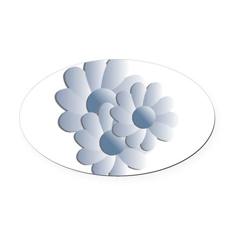 daisy5c2.png Oval Car Magnet