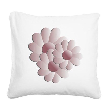 daisy5d2.png Square Canvas Pillow