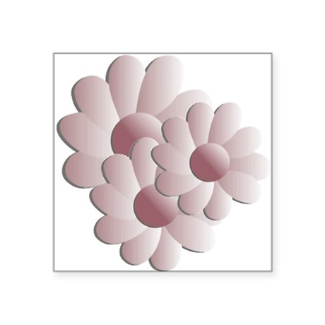 "daisy5d2.png Square Sticker 3"" x 3"""