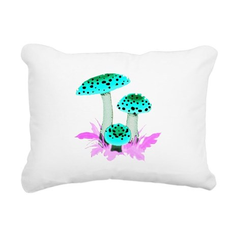 mushrooms2f.png Rectangular Canvas Pillow