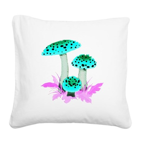 mushrooms2f.png Square Canvas Pillow