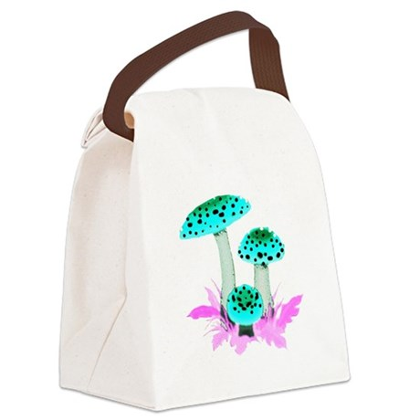 mushrooms2f.png Canvas Lunch Bag