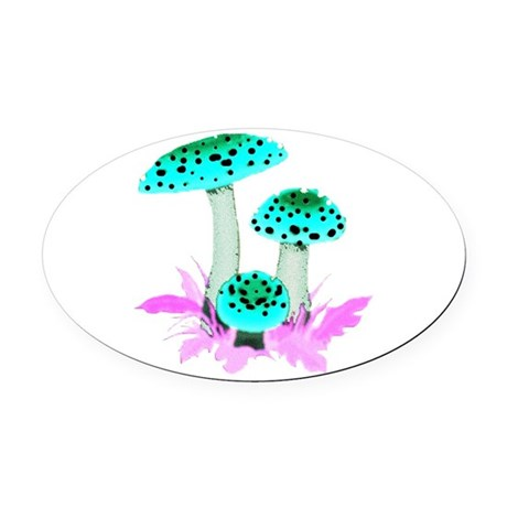 mushrooms2f.png Oval Car Magnet