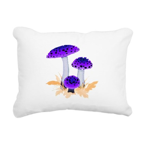 mushrooms2g.png Rectangular Canvas Pillow