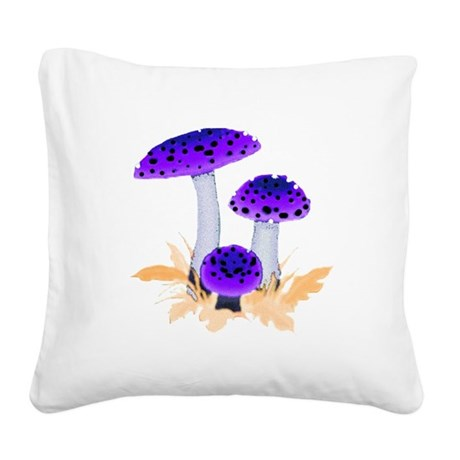 mushrooms2g.png Square Canvas Pillow