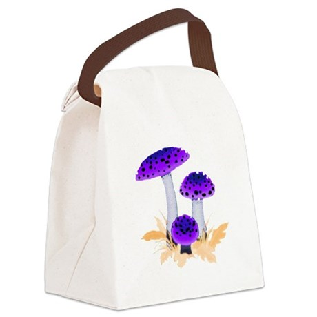 mushrooms2g.png Canvas Lunch Bag