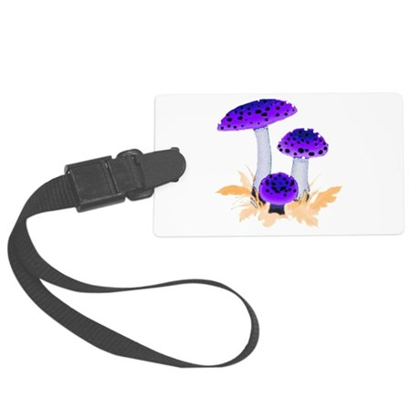 mushrooms2g.png Large Luggage Tag