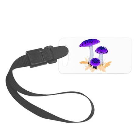 mushrooms2g.png Small Luggage Tag