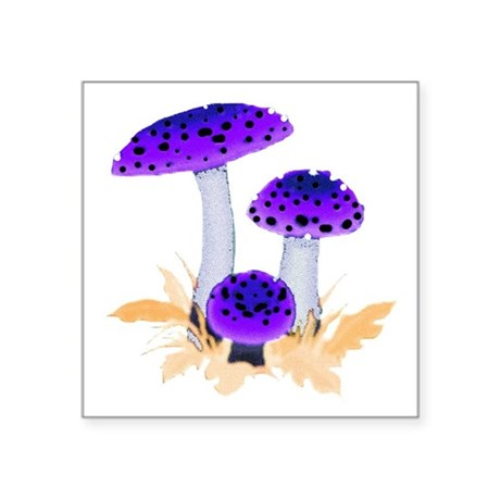 "mushrooms2g.png Square Sticker 3"" x 3"""