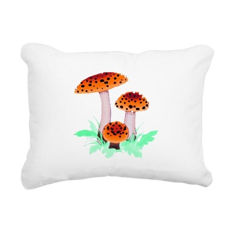 mushrooms2h.png Rectangular Canvas Pillow