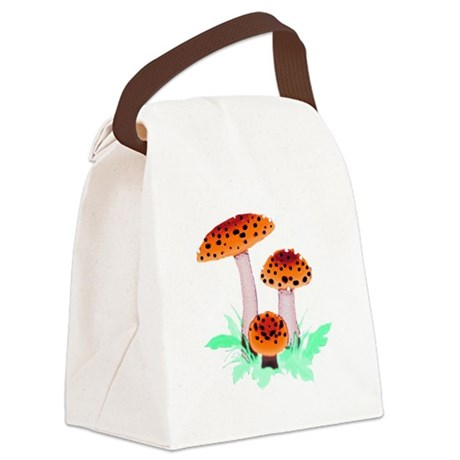 mushrooms2h.png Canvas Lunch Bag