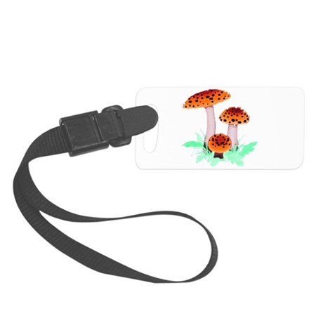 mushrooms2h.png Small Luggage Tag