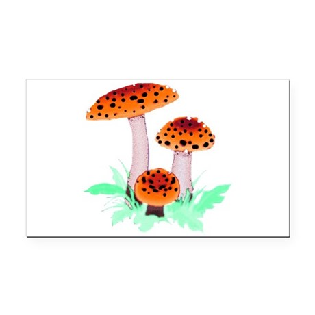 mushrooms2h.png Rectangle Car Magnet