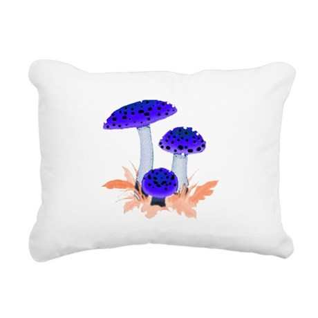 mushrooms2i.png Rectangular Canvas Pillow