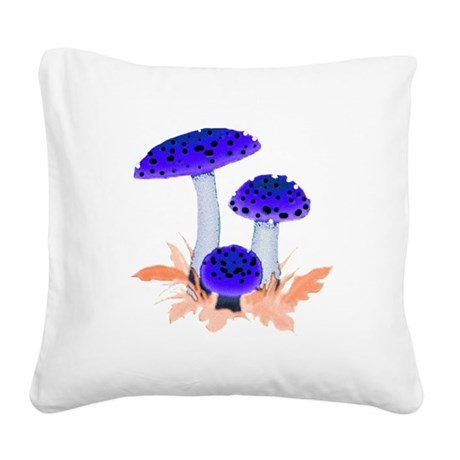 mushrooms2i.png Square Canvas Pillow