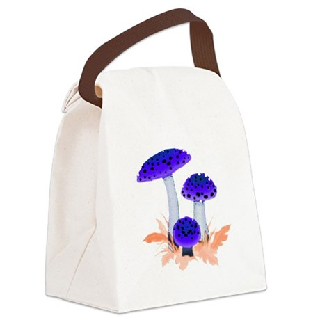 mushrooms2i.png Canvas Lunch Bag