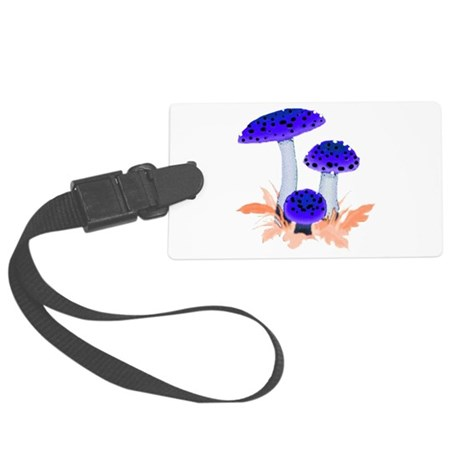 mushrooms2i.png Large Luggage Tag
