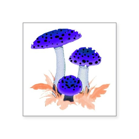 "mushrooms2i.png Square Sticker 3"" x 3"""