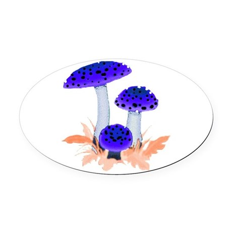 mushrooms2i.png Oval Car Magnet