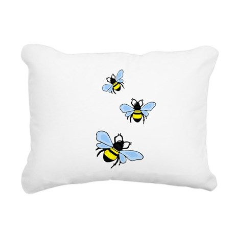 bee1.png Rectangular Canvas Pillow